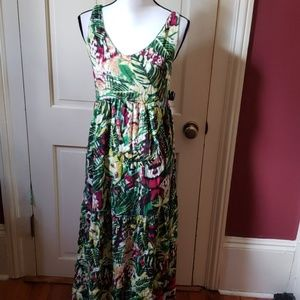 Tropical maxi dress! NWT  S